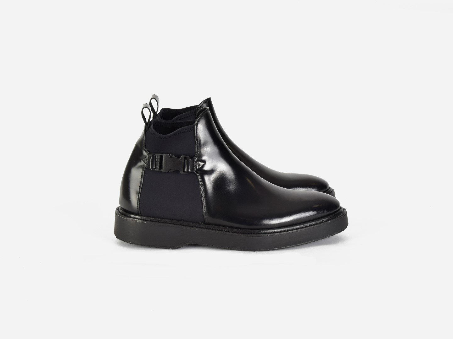 pregis shay black leather chelsea boot made in Portugal