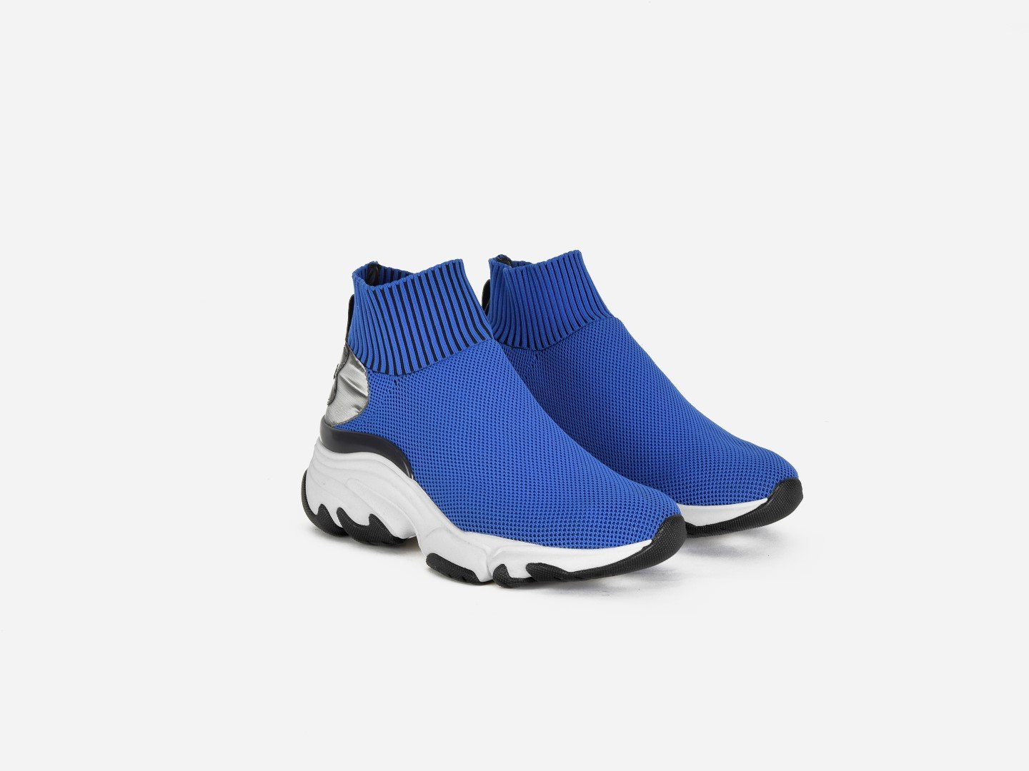 pregis ryder blue sock oversized runner sneaker designed in London